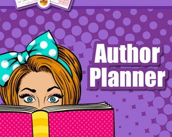 Authors Planner, 22 Page Writers Planner, Research, Book Marketing, Amazon Setup Sheet, Track Sales Promos, Writing A Book, PDF Printable