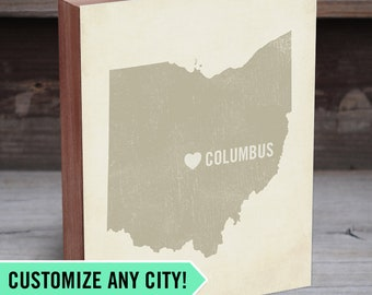 State Maps - State Map Art - Map Gifts for Him - State Wood Sign - City Wall Prints - Customized City Signs - Custom Map Wedding