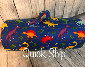 Dinosaur/personalized/Kinder Nap Mat/Preschool Nap Mat/ Sleep Sack/Quick Ship