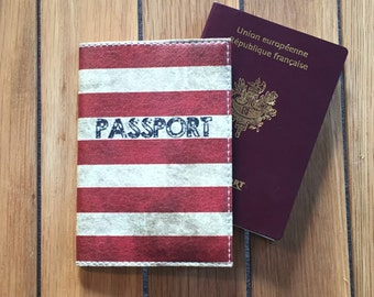Leather - flag American passport cover