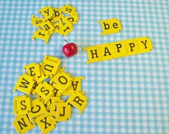 Vintage Alphabet Letters - Link Letters - Group of 20 - Capital & Small  Letter Tiles - Embellishment - Scrapbook - Ephemera - Junk Journal