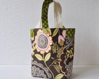 2 Pocket Medium Gift Bag - Lacework in Olive