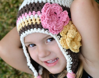 girls winter hat, girls hat, newborn girl hat, girls , toddler girl hat, , girls hat, crochet girls hat, kids hat, winter hat for girls