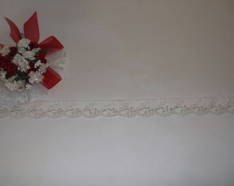 White Silver/Pearl Beaded Lace