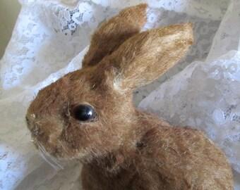 Vintage Brown Fur Easter Rabbit Bunny
