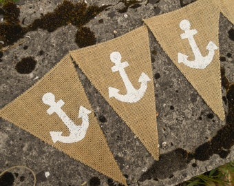 Anchor Banner Wedding Banner Anchor Decor Baby Boy Banner Baby Shower Banner Nautical Anchor Banner Nautical Banner Beach Garland