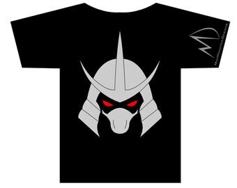 TMNT Teenage Mutant Ninja Turtles Shredder METALLIC T-shirt