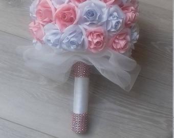 bridal bouquet, alternative bouquet, wedding bouquet, centerpiece, wedding, ball of roses, paper, origami bouquet suspension