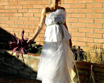 Maternity Long Tulle Skirt-Tulle Skirt-Tulle Wedding Skirt-Tulle Wedding Dress-Toulous Tissue Linen Layered Tulle Pregnant Bride Chic Maxi