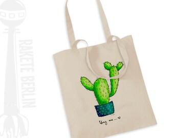 Tote Bag   'Cactus - Hug me'