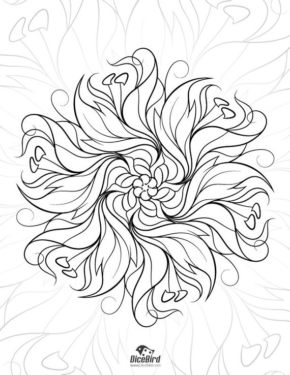 Adult coloring e-book 28 designs flowers mandalas