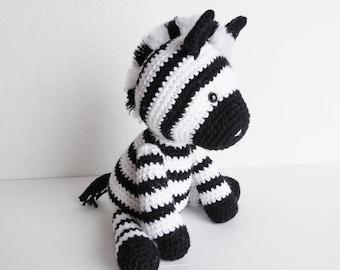 Ziggy the Zebra / Crochet Plush Zebra / Amigurumi Zebra Stuffed Animal