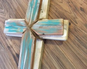 Repurposed Wood Cross-religious home decor