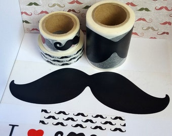 Washi Sample - Mustache Washi Sample