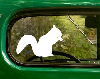 Squirrel Decal, Squirrel Sticker, Squirrel Silhouette, Car Decals, Laptop Sticker, Vinyl Decal