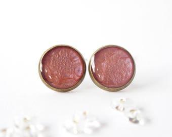 Roses_PP04 ear studs