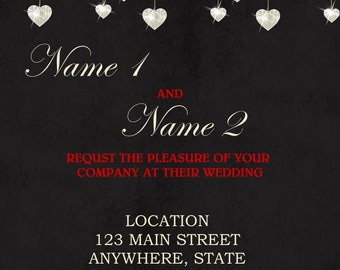 Wedding Invitation Chalkboard