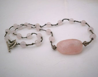Rose Quartz Necklace and Sterling Silver