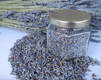 Organic dried culinary lavender, 2017 crop.  High-quality, fragrant French lavender buds for cooking, baking, and experimentation!
