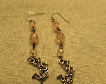Pink Skeleton Dangles