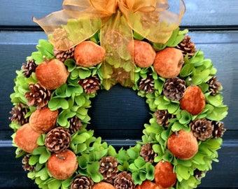 Autumn Apple & Pear Wreath