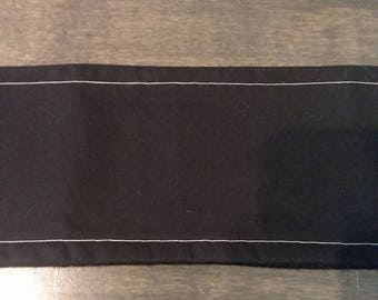 Solid Black Male Dog Belly Band - S