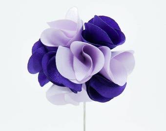 Karen Purple Flower Lapel Pin