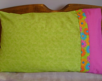 Pillowcase - Green Washout - Standard Single
