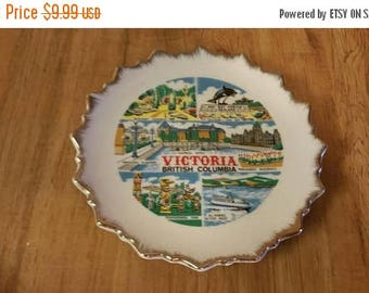 On Sale Victoria British Columbia Souvenir or State Decorative Plate or Wall Hanging Vintage Kitchen Lugenes Made in Japan