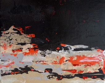 Abstract, Original small painting, Nocturno.