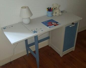 Kids blue and white desk
