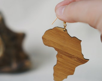 Africa Earrings, African Jewelry, African Earrings, Africa Map Earring, Africa Continent, Afrocentric Jewelry, African Style, Afro (EB01)