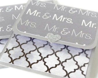 Wedding Gift Card Holder, Wedding Money Holder, Wedding Check Holder, Cash Gift, Money Envelope,  Mr & Mrs. Gift Card Holder, Handmade,
