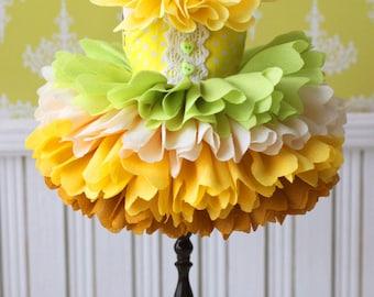 PO - Anniedollz Handmade Blythe Petals Dress - Banana