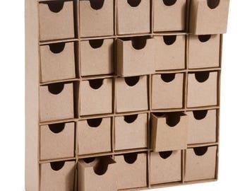 Paper Mache Boxes Advent Calendar