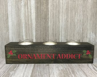 Personalized Wood Candle Holder | Votive | Home Decor | Candle | Housewarming | Birthday | Centerpiece | Gift | Christmas
