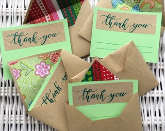 Set of five envelopes with Thank You Card