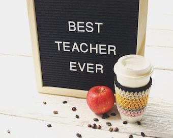 Crochet Pencil Inspired Cup Cozy
