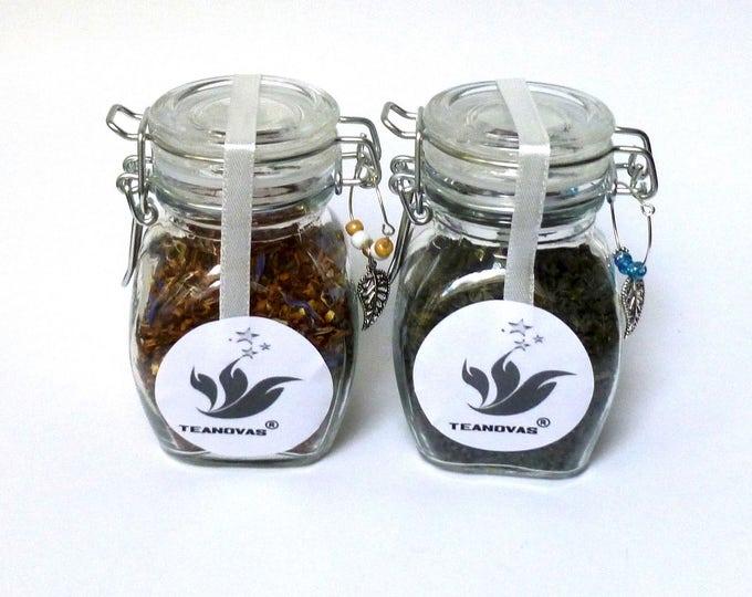 Tea S&ler with AirTight Glass Canister-Herbal Teas -Rooibos/Honeybush & Rooibos Tea - Teanovas