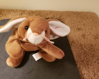 TY Beanie Babies Ears the Brown and White Rabbit /Retired 1998 /Vintage