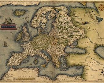 Poster, Many Sizes Available; 1572 Europa Ortelius Map Of Europe By Ortelius