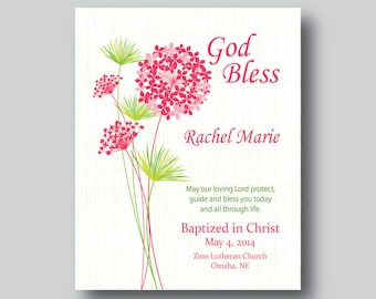 Girl Confirmation Gifts For Girls, First Communion Gifts for Girls, 1st Communion, Baptized Print, Gift From Godmother, Gift From Godfather