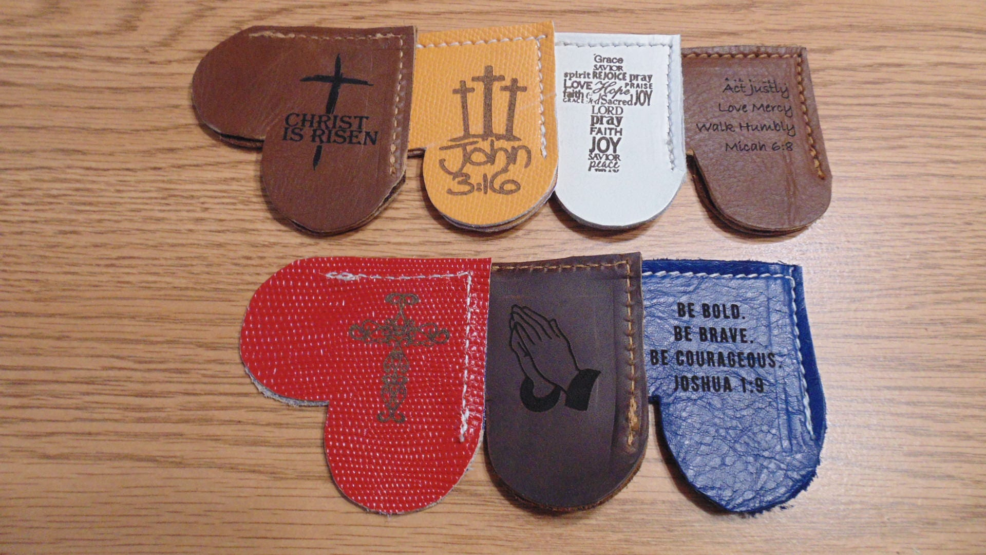 Religious leather bookmark religious gifts bible verses zoom negle Image collections