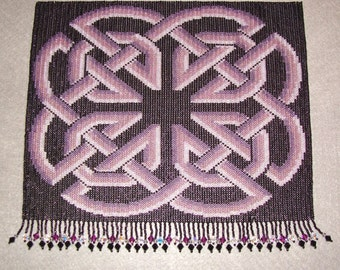 Celtic knot in purples
