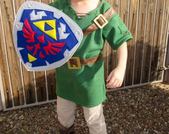 Link from Zelda Inspired Costume & Shield -  Custom Order