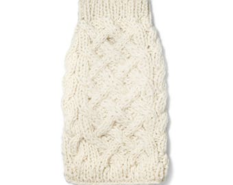 Wool Cable Knit Sweater Ivory