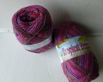 Sale Piggy Pink  Tropical Breeze Sock Yarn by Mary Maxim