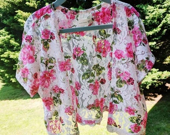 Zinnia Lace Kimono- baby girl kimono, toddler girl kimono