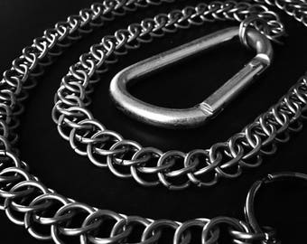Half Persian stainless steel wallet chain