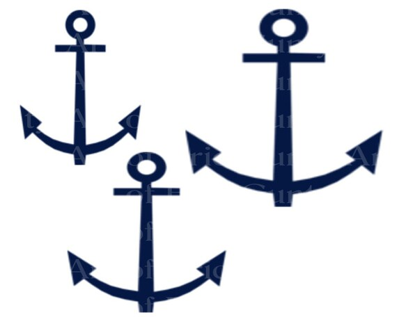 Navy Sailing Anchors Birthday - Edible Cake and Cupcake Topper For Birthday's and Parties! - D22980